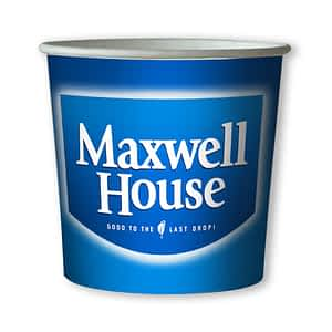 Maxwell House Coffee -76mm 7oz Paper In-cup Drinks Kenco and MaxPax Machine Refills
