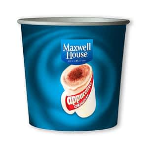 Maxwell House Cappuccino -76mm 7oz Paper In-cup Drinks Kenco and MaxPax Machine Refills