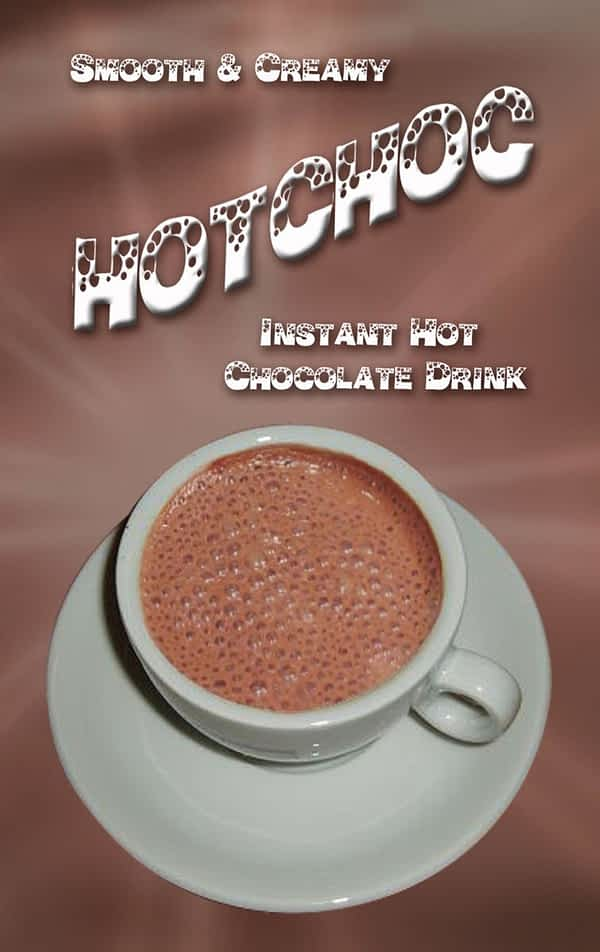 Hot choc 73mm in-cup drinks - Vending Machine In-cup Drinks Ingredients Refills