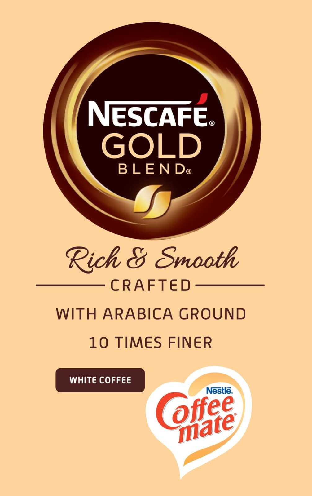 12 x 25 Sleeves 300 Cups Nescafe Gold Blend In-Cup Coffee White 73 mm